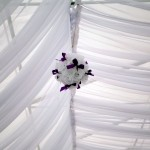 Dekoracje sufitu w namiocie
