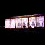 Namiot nocą Mielec