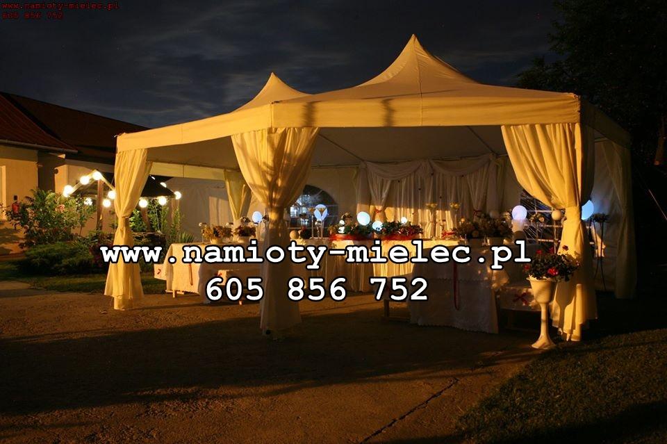 Mielec. Namiot na poprawiny, namiot na komunię. Namiot weselny, plenerowy, turek pagoda pawilon nr 1.
